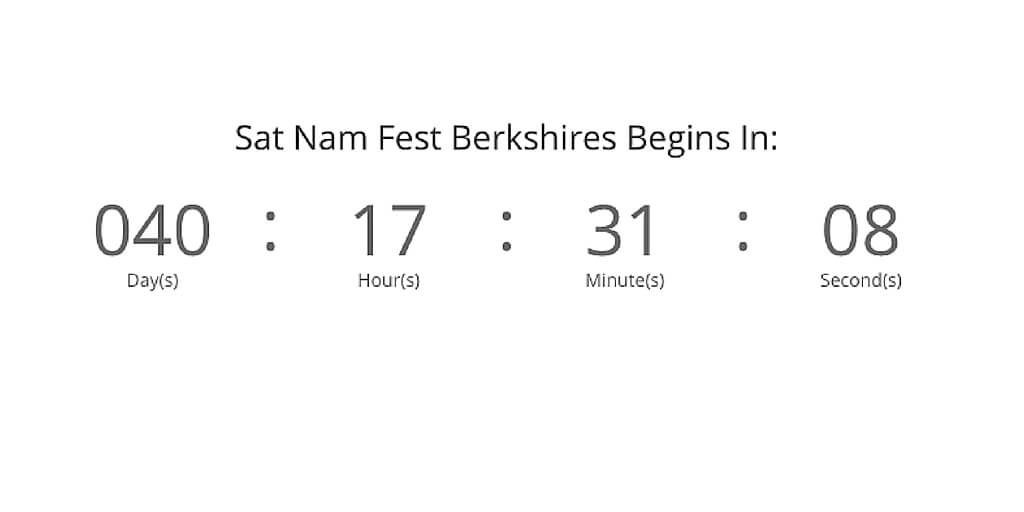 Countdown to Sat Nam Fest